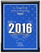C Langway and Sons was voted Best Painter in the Best Of Millbury 2016 Awards
